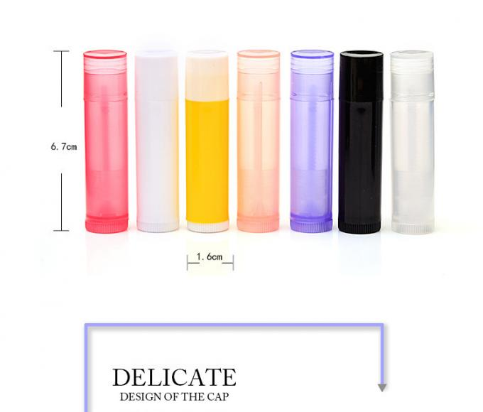 5g Round Cute Colorful Clear Lip Balm Containers With Custom Logo Printing