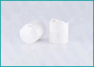 24mm White Disc Top Pet Bottle Caps / Shampoo Bottle Cap With Highly Sealed
