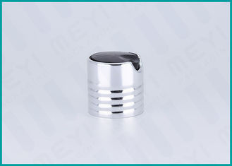 Shiny Silver Aluminum Screw Disc Top Cap 28/410 For Hand Washing Products