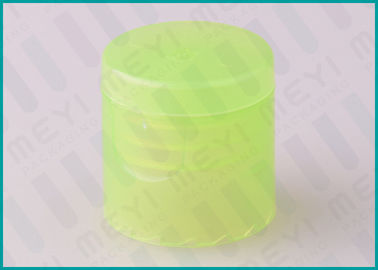 Green Lotion /  Shampoo Plastic Bottle Flip Cap 20/415 With Leakage Prevention