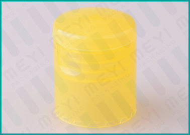 22/415 Yellow Flip Top Cap , Non Spill Shampoo Bottle Cap For Daily Use
