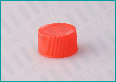28/410 Red Ribbed Common Screw Top Caps For Cosmetic Jars / Bottles