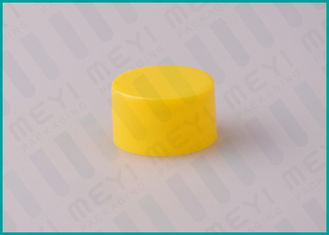28/410 Yellow Plastic Cosmetic Bottle Caps For All Kinds Of Containers