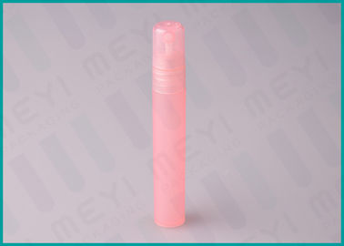 8ml Frosted Pink Plastic Perfume Bottle Packaging Travel Useful With Sprayer