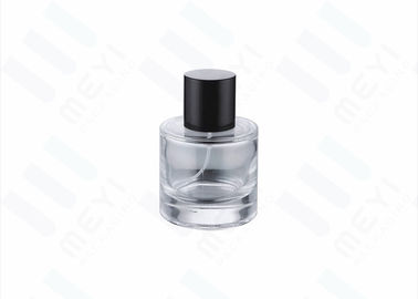 Custom Perfume Bottle Packaging With Shiny Silver Perfume Pump And Black Cap