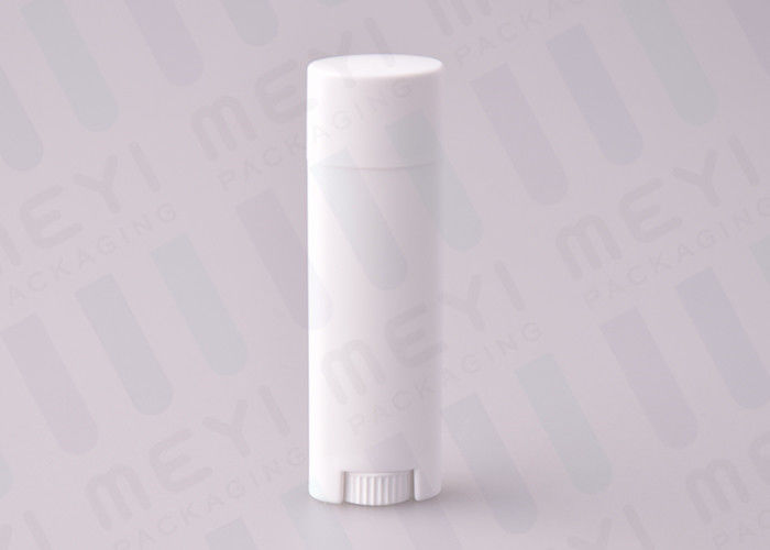 4 5g White PP Oval Shape Empty Lipstick Tubes With Silkscreen Printing